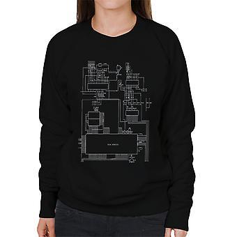 Sega Genesis Computer Schematic Women's Sweatshirt