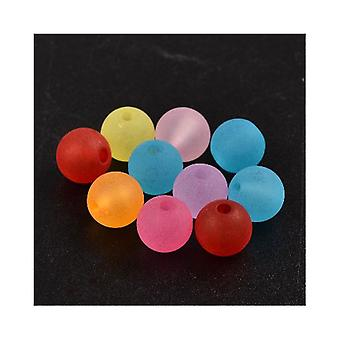 Packet 60+ Mixed Lucite 8mm Plain Round Beads HA25510