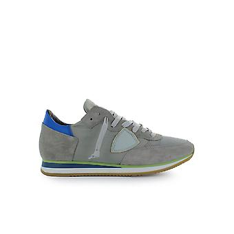 PHILIPPE MODEL TROPEZ MONDIAL GREY BLUE SNEAKER