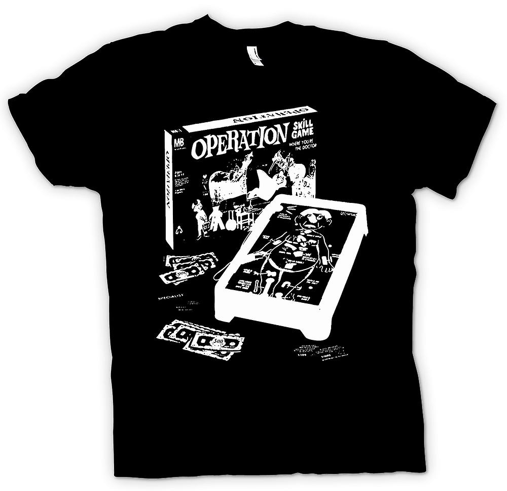 Womens T-shirt - Operation - Classic Retro Game