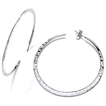 Cavendish French Sterling Silver Thin large Hoops - Silver