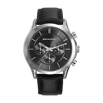 Pierre Cardin mens watch watch Chrono BOTZARIS HOMME leather PC107201F02