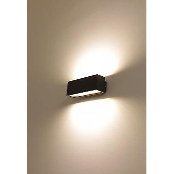 UpDown LED væg Sconce k L mørk grå, IP54, 2 x 6 W, 3000 K