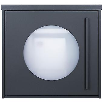 MOCAVI box 105W design mailbox anthracite (RAL 7016) window