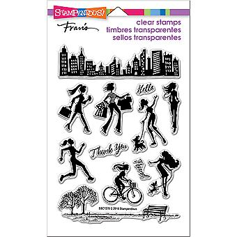 Stampendous Perfectly Clear Stamps-Sassy City