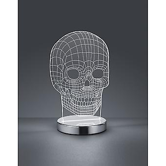 Trio Lighting Skull Fun Chrome Metal Table Lamp