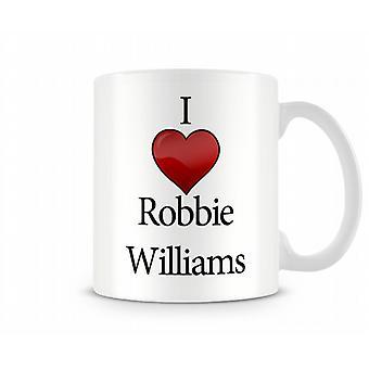 Amo la tazza stampata di Robbie Williams