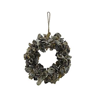 Natural Oyster Shell Indoor/Outdoor 18 inch Accent Wreath