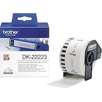 Brother DK-22223 Label roll 50 mm x 30.48 m Paper White 1 Rolls Permanent DK22223 All-purpose labels
