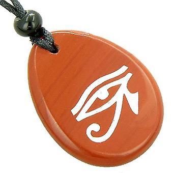 Magic Eye Of Horus Amulett glauben Wort Stein Glück Halskette