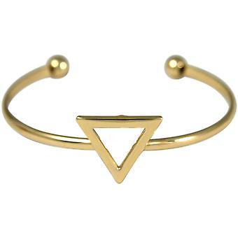 Gemshine - Damen - Armband - Armreif - Gold - Design - Dreieck - Scandi - Minimalistisch - Geometrisch - Design