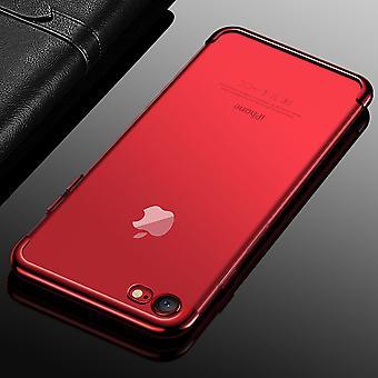 Etui de téléphone portable pour Apple iPhone 7 / 8 rouge transparent transparent