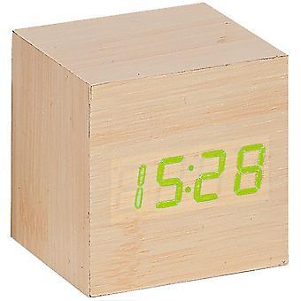أتلانتا 1134//إنذار 30 ساعة المكعب البصريات الخشب الرقمية تاريخ الضوء الحرارة