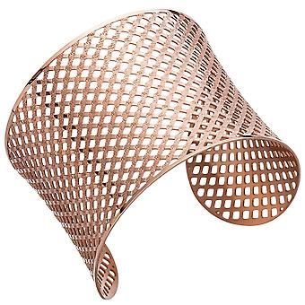 Cuff / open stainless steel bracelet pink gold coated colors bracelet
