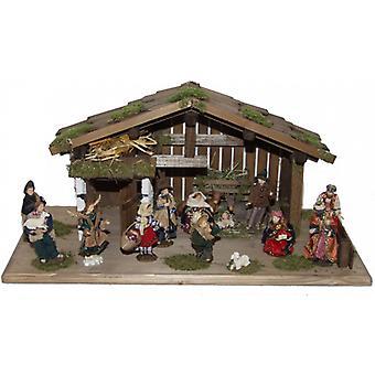 Wieg DANIEL houten wieg Nativity kerst geboorte stabiel groot 15 cm