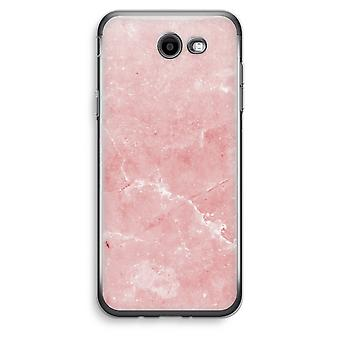 Samsung Galaxy J3 Prime (2017) Transparent Case (Soft) - Pink Marble