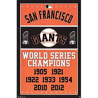 San Francisco Giants - Champions 2013 Poster Print