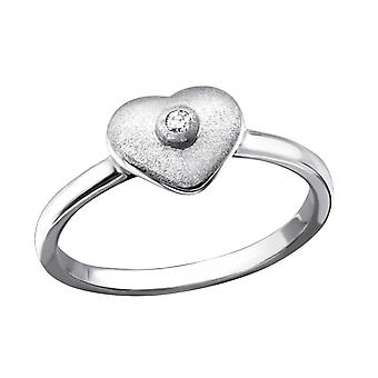 Hart - 925 Sterling Zilver Jewelled ringen - W22855X