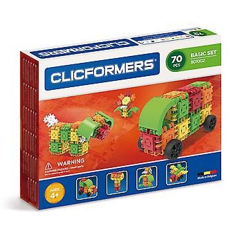 Clicformers Basic 70 PCS Set Building and Construction Toy