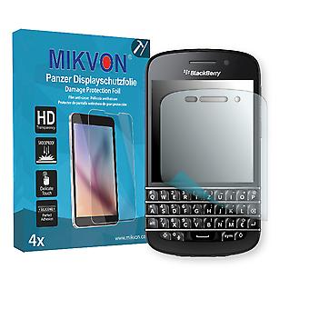 BlackBerry Q10 Screen Protector - Mikvon Armor Screen Protector (Retail Package with accessories)