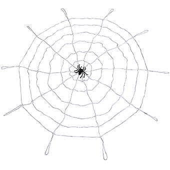 TRIXES Spooky Scary Halloween Giant White Spider Web
