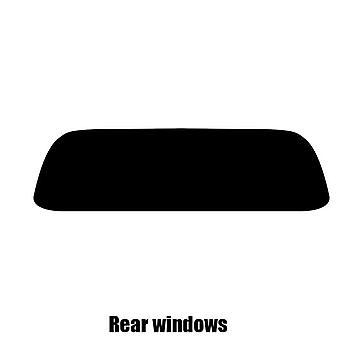 Pre gesneden venster tint - BMW Z4 Convertible - 2003 tot en met 2009 - achterzijde windows