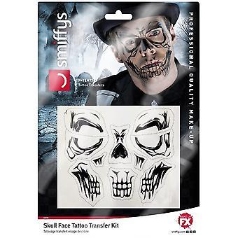 Smiffy's Skull Face Tattoo Transfer,