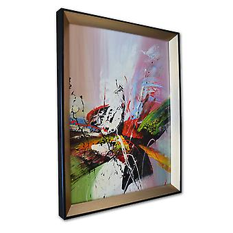 Abstract oil painting with frame, 30 x 40 cm