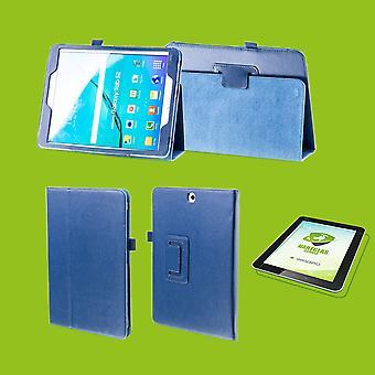 Für Apple iPad Pro 11.0 Zoll 2018 Hülle Cover Tasche Dunkel Blau Kunst Leder Case Neu + 0,4 mm Hart Glas