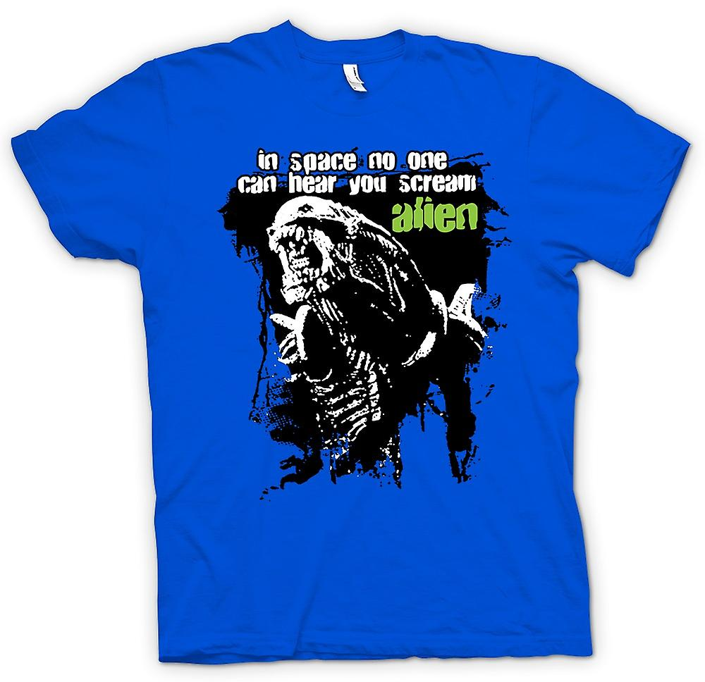 Hommes T-shirt - Hear You Scream Alien - Sci Fi