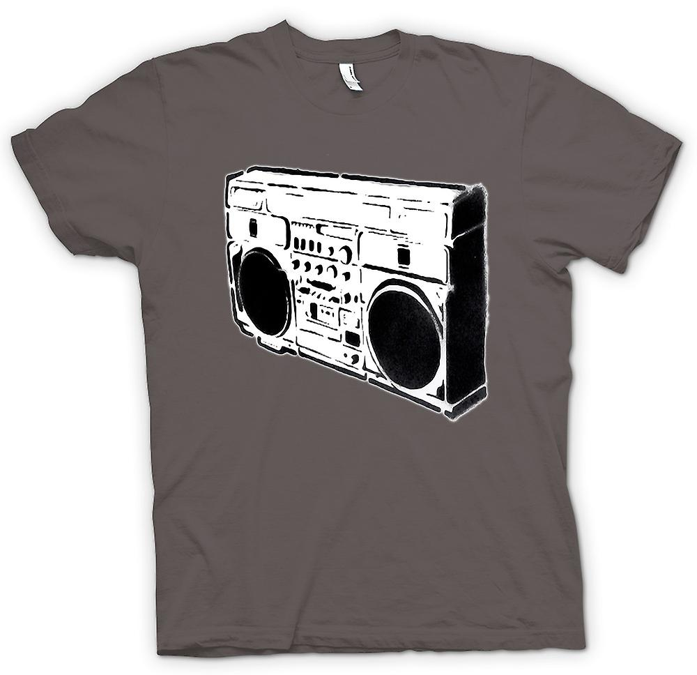 Womens T-shirt - Ghettoblaster Old School - BW