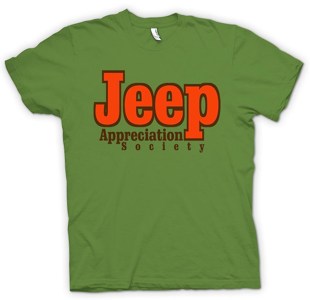 Herr T-shirt-Jeep Appreciation Society