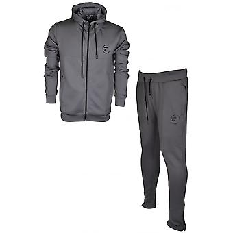 4biden Elite Polyester Hooded Grey Tracksuit