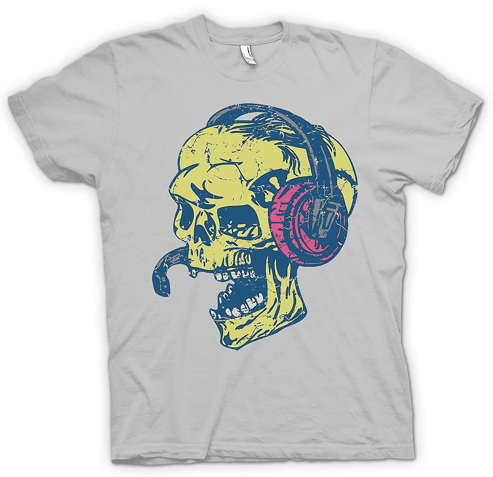 Mens T-shirt - Skull DJ - Skull And Bones