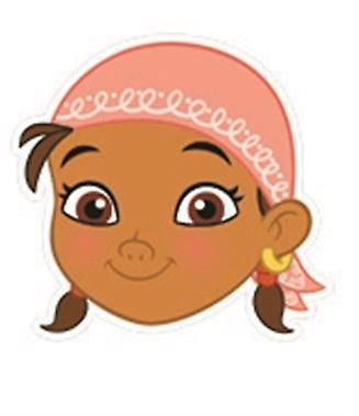 Izzy Card Face Mask (Jake and The Neverland Pirates)