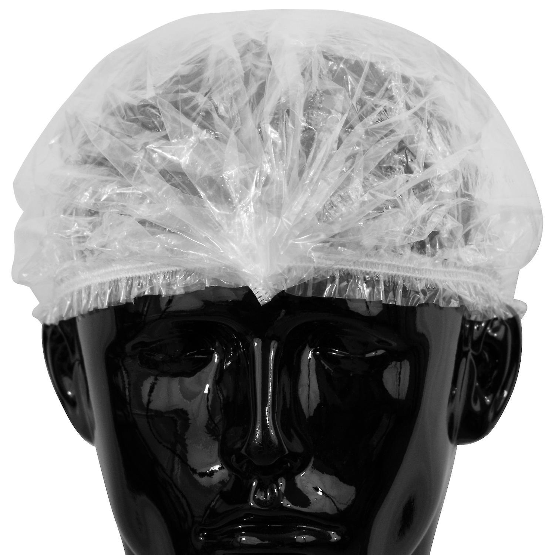 - transparent 100 Stück Duschhaube große Größe 67 cm Einweg