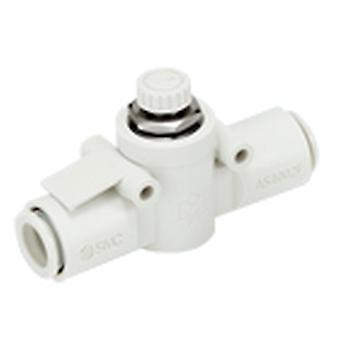 SMC As2002F-06 Flow Controller, 6Mm Tube Inlet Port X 6Mm Tube Outlet Port