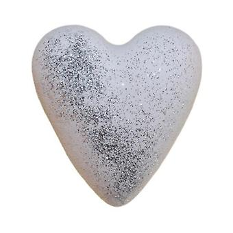 Luxury white musk heart bath bomb
