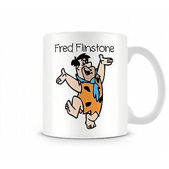 Impreso de escritura decorativa historieta carácter Fred Flinstone