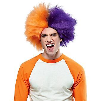 Perücke für Sport Spaß Orange lila