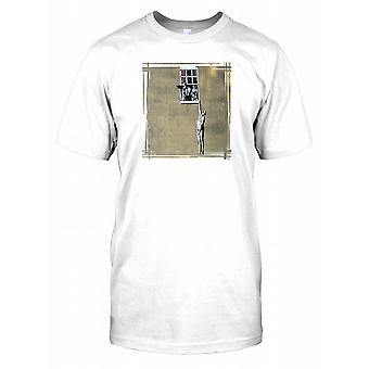 Banksy Naked Man Hanging - Urban Art Mens T Shirt