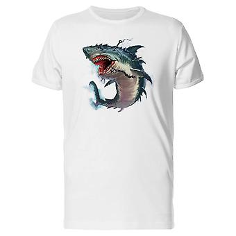 Shark Mouth Monster Painting Tee Men's -Image by Shutterstock