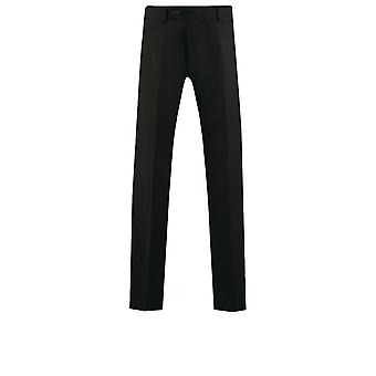 Dobell Mens Black Suit Trousers Regular Fit Travel/Performance