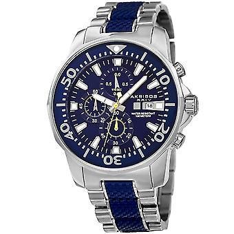 Akribos XXIV Men's Bold Chronograph Two-tone Stainless Steel Bracelet Watch AK857BU