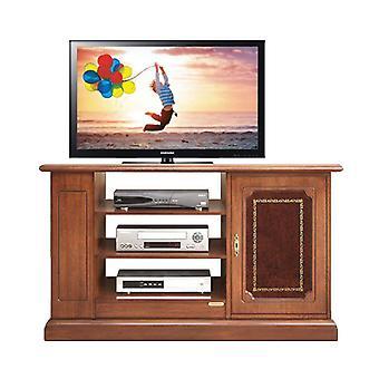 Meuble TV avec porte en cuir précieux