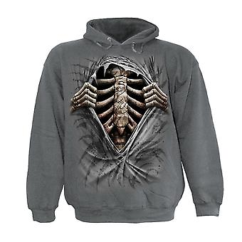 Spiral Direct Gothic SUPER BAD - Kids Hoody Charcoal|Skeleton|Tribal|UnDead|Rips