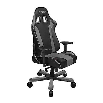 DX Racer DXRacer OH/KS06/NG High-Back Chairs Office Chair Carbon Look Vinyl+PU Desk Chair(Black/Gray)