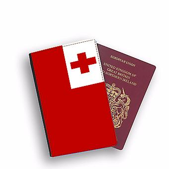 TONGA Flag Passport Holder Style Case Cover Protective Wallet Flags design