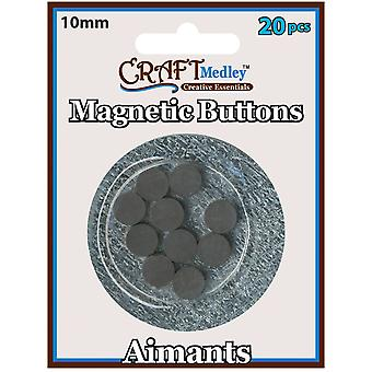 Magnetic Buttons On Mirror 10Mm 20 Pk Mcmt 040