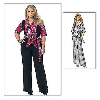 Misses' Women's Jacket, Belt And Pants  Woman Xxl  1X  2X  3X  4X  5X  6X Pattern B5575  Wmn